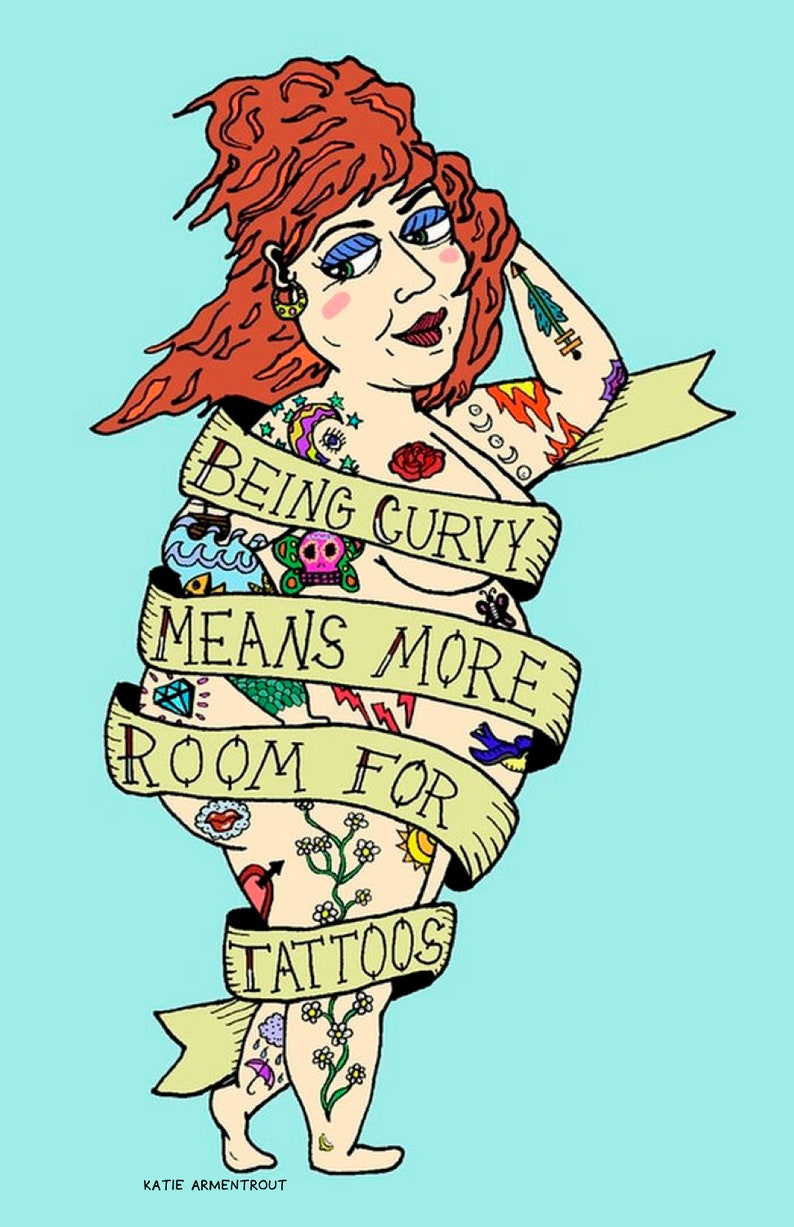 Being Curvy Means More Room for Tattoos_Blue image 0