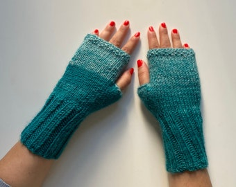 Mittens, Arm warmers, Seablue Gloves,  Gloves, Women Fingerless, Winter Gloves, Knit Fingerless, Winter Accessories, Wrist warmers