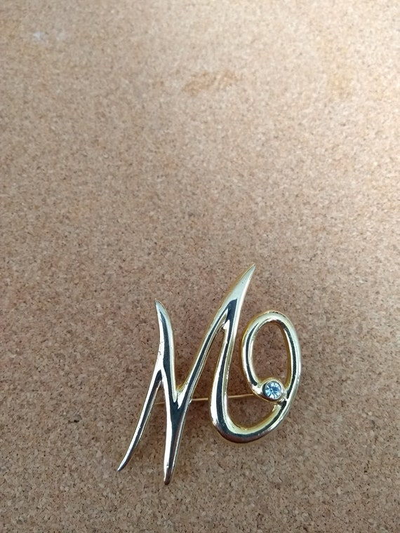 Beautiful 50s stylised abstract antique vintage brooch retro jewellery jewelry