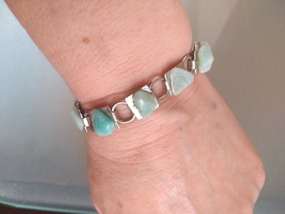 Zircon Round Bracelet With Agate White-Green Multi StoneSemi-Precious