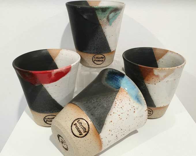 Handmade Ceramic Tumbler/Latte Cup with Dip Dye design - gifts for her - gifts for sister - gifts for him - latte cup - rustic cup