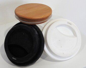 Lid for Keep Cup - Bamboo or Silicone in various colours