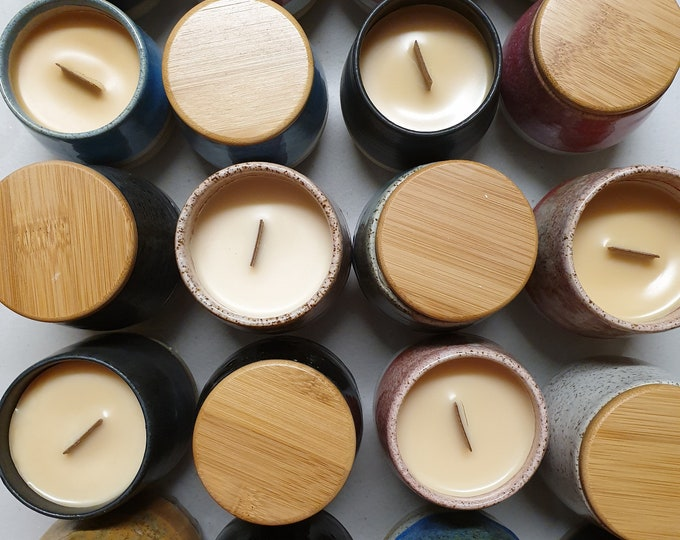 Stemless Re-usable Wine Cup Candle - Natural