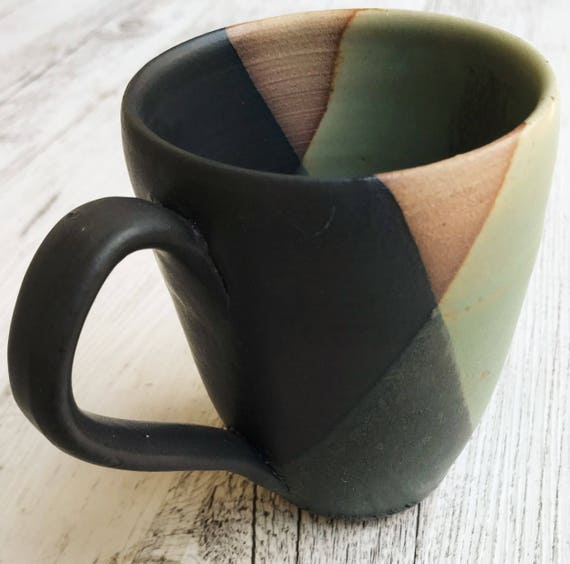 Geometrix Black and Green Mug