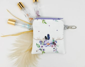 Mini Essential Oil Case, Essential Oil Holder, Keychain- *YOU PICK* 3 Roller Bottles or 2 of ANY brand essential oils (5ML or 15ML)