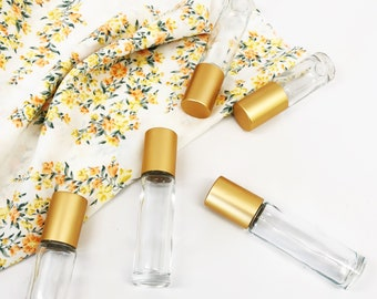 5 pack! Clear roller bottle ||  2 sizes to choose from: 5ml or 10ml roller bottle.  DIY gift for him and her.