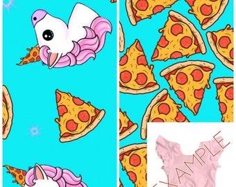 23a72f212df Pizzacorn Crop Top ( Unicorn crop top, pizza crop top, Toddler crop top,  baby crop top, kids crop top, girls crop top, dance crop top) LONG
