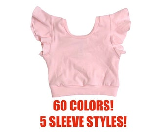 cdcf261e55f687 Solid crop top (Toddler crop top