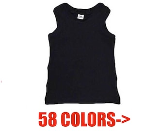 Solid Tank Top • (Baby tank, infant tank, toddler tank, kids tank, basic tank, beater tank)