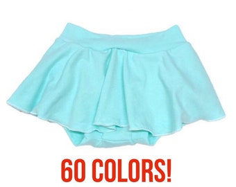 Solid Skirt Bummies (Solid Skirt Bloomers,Skirted Bummies,Baby Bummies,Baby Bloomers,Diaper Cover,Toddler Bummies,Toddler Bloomers)-LONG