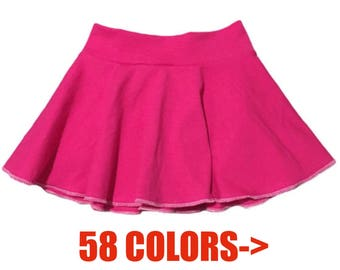 Solid Skirt (Baby Skirt,Toddler Skirt,Kids Skirt,Girls Skirt,Dance Skirt,Ballet Skirt,Twirl Skirt,Circle Skirt,Skater Skirt)
