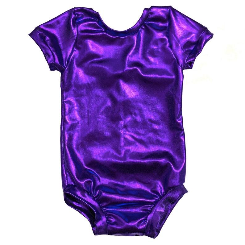 Purple Leotard metallic leotard, baby leotard, toddler leotard, dance leotard, basic Leotard, purple bodysuit, gymnastics leotard METALLIC