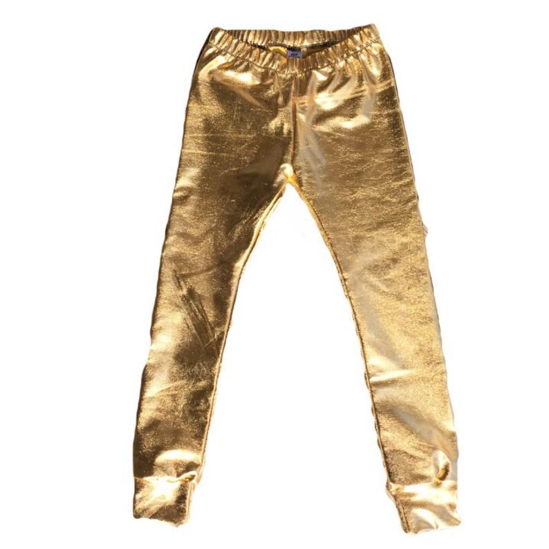 669abada59932 Gold Leggings Metallic Leggings Toddler Leggings Baby | Etsy