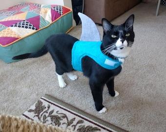 Shark Halloween costume  shark cat outfit shark dog outfit pet halloween costume cat costume dog costume -- [shark] & Pet Costumes | Etsy