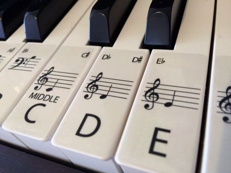 PIANO stickers Learn STANDARD CLEAR Keyboard / Piano image 0