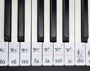 Solfège learn piano labels DIGTAL DOWNLOAD