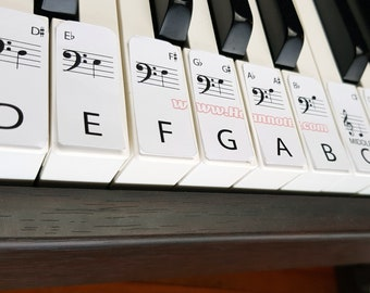 Standard learn piano labels DIGTAL DOWNLOAD