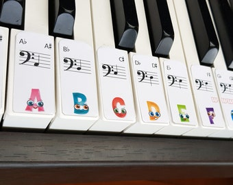 Children's learn piano labels DIGTAL DOWNLOAD