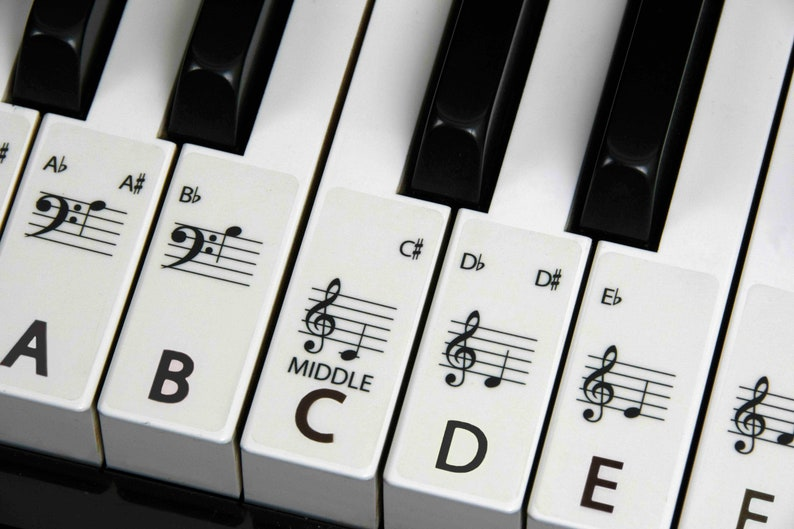 PIANO stickers Keyboard for ALL SIZE Pianos the best way to image 0