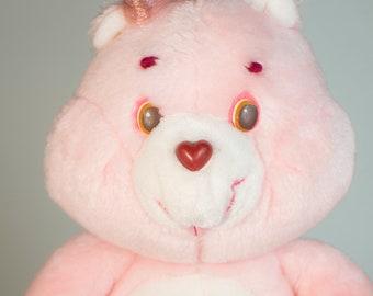 28  Groß Care Bears Pink Cheer Regenbogen Kissen Plüschtier Spielzeug Weich Teddys