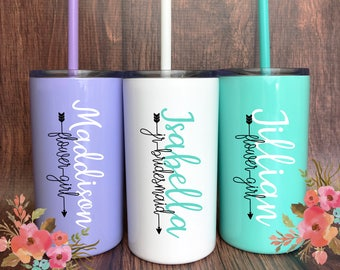 Flower Girl Gift, Flower Girl Proposal, be my Flower Girl, Flower Girl Favors, Ask Flower Girl, Flower Girl Cup, Personalized Girl