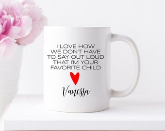 Mothers day gift-Personalized gifts for mom-Mothers day gift-Favorite Daughter Mug-Coffee mug for mom-Mothers day gift from daughter