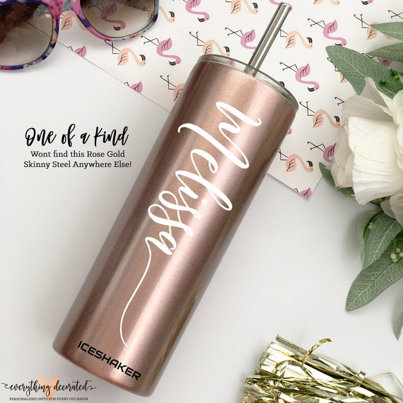 Rose Gold Wedding Favor Tumblers Bridesmaid Gifts Cheap Tall Etsy