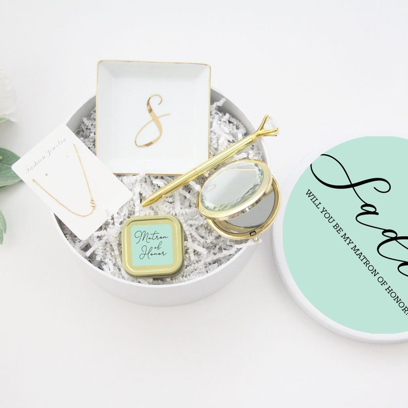Bridesmaid Proposal Gift Box Set Bridesmaid Proposal Box Will Mint
