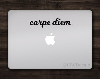 Carpe Diem - Vinyl Decal Sticker Macbook Mac Apple Laptop Unique Sieze the Day