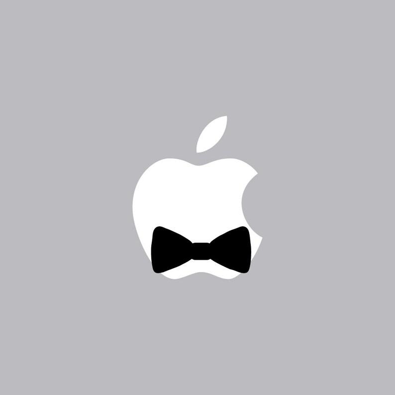 0db6a38e202 Bowtie Mac Apple Logo Cover Laptop Vinyl Decal Sticker