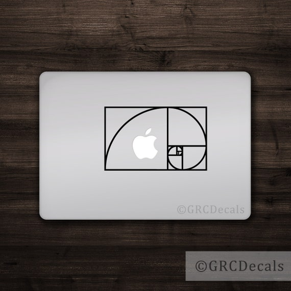 Math Sticker Fibonacci Spiral Vinyl Decal Golden Ratio Sticker Science Decal