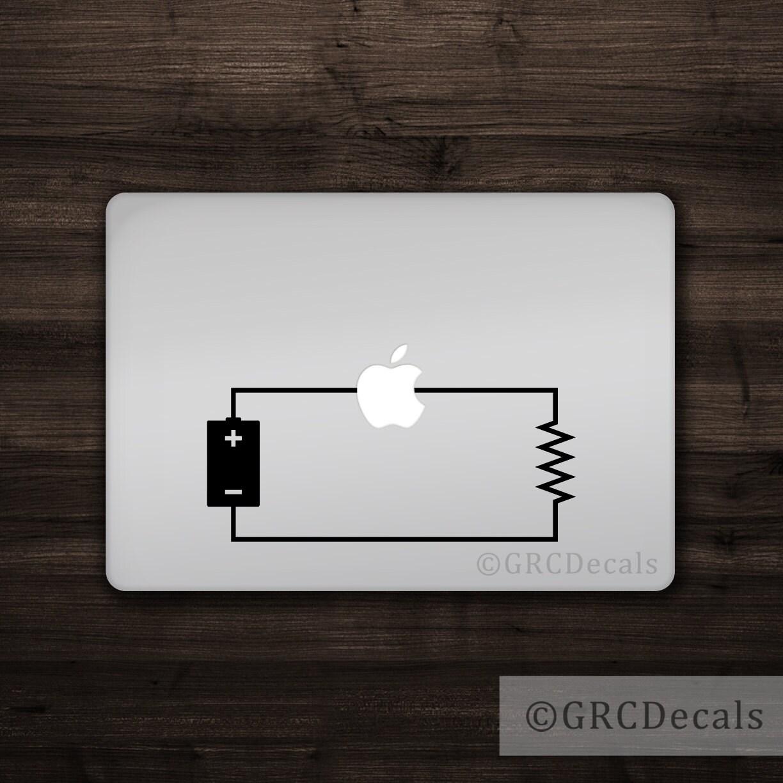 Circuit Mac Apple Logo Cover Laptop Vinyl Decal Sticker Etsy Electronic Design Macbook Unique Light Bulb Electrical Engineer