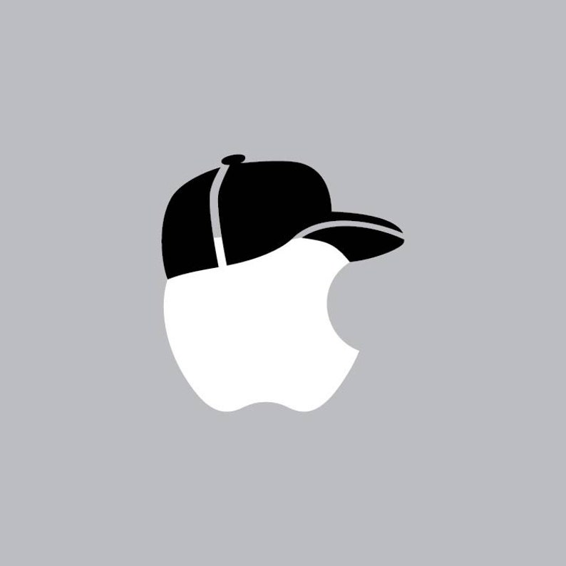 1ec92a91649 Baseball Cap Mac Apple Logo Cover Laptop Vinyl Decal Sticker