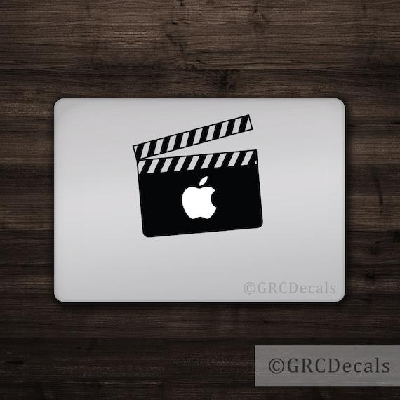 9812bcefbef Clapperboard Mac Apple Logo Cover Laptop Vinyl Decal Sticker