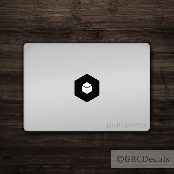 Cube Mac Apple Logo Cover Laptop Vinyl Decal Sticker Macbook Etsy