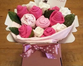Baby Clothing Bouquet. Pink, blue or neutral. UK seller