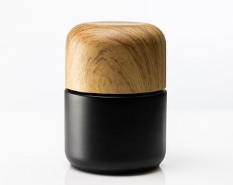 "3"" Glass Herb Stash Jar- Dark Coated Glass- UV Protection-Child Proof-Smell Proof-Professional Grade Herb Stash Jar"