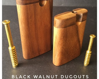 Black Walnut Dugouts with Brass One Hitter