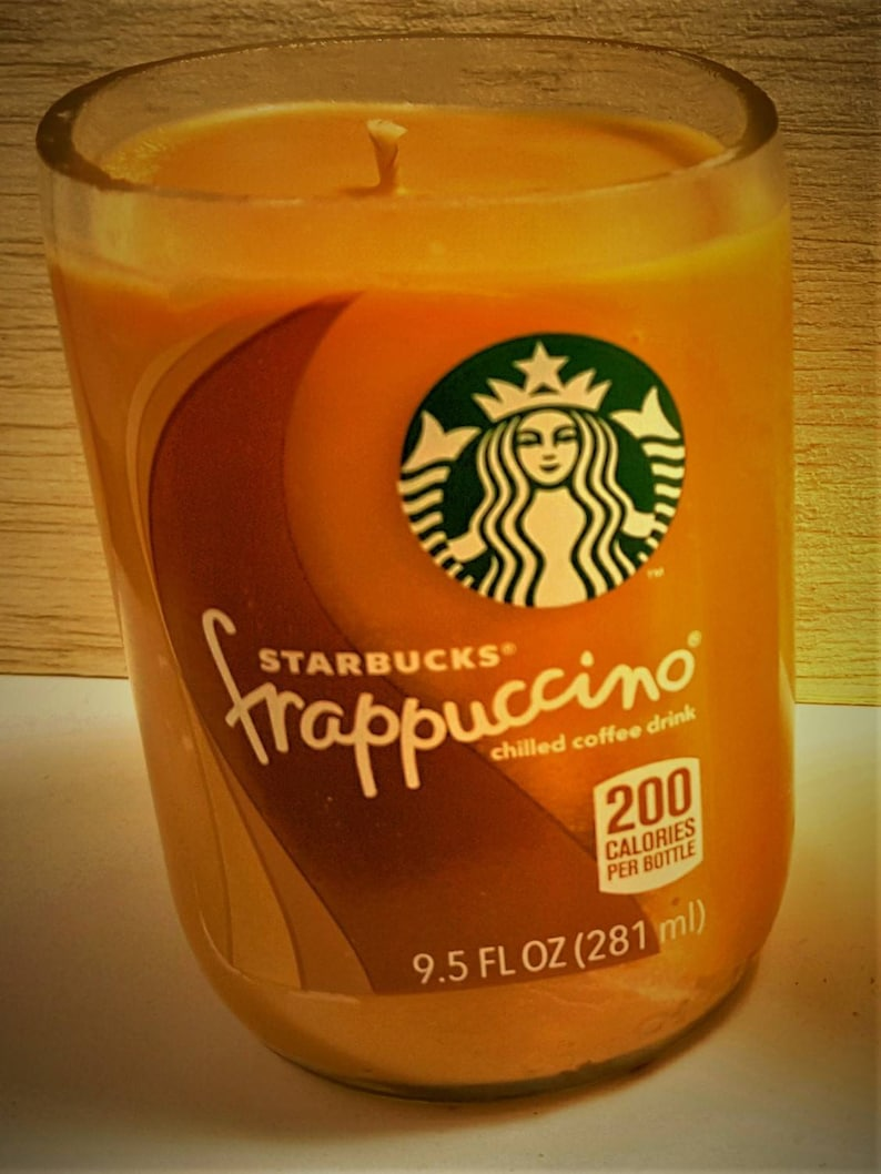 Recycled Starbucks Bottles With Natural Soy Wax W 5 Scents Fresh Coffee Very Vanilla French Vanilla Latte Pumpkin Caramel Macchiato