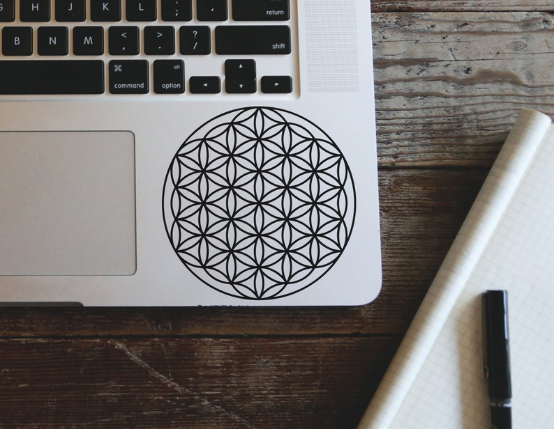 DECAL, Flower of Life Decal, Sacred Decal, Car Decal, Laptop Sticker,  Macbook Sticker, Car Window Decal, Vinyl Decal, Flower of Life Sticker