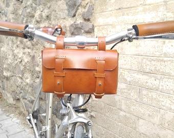 Leather Bicycle Bag - Leather Tool Bag - Bike bag, Honey