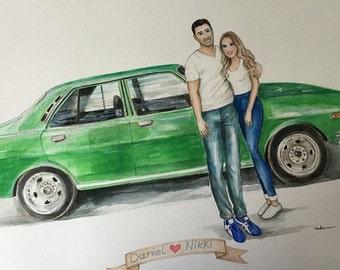 Custom illustration/Save the date
