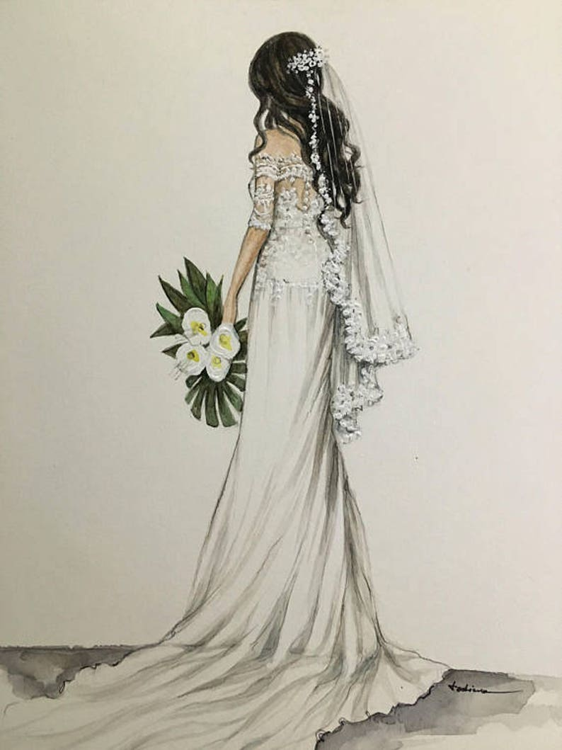ada0dcea53 Suknie ślubne Moda niestandardowe rysunku ilustracja wesele