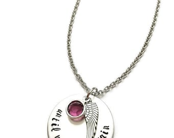 personalized memorial necklace | until we meet again | miscarriage necklace | loss jewelry | miscarriage remembrance