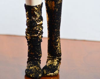 Gold Spatter SD Knee High Stockings