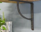 Forge Dovedale Arched Beeswax Iron Shelf Bracket 16 x 16cm