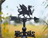 Welsh Dragon Weathervane Wales Welsh Pride UK Dragon Garden and Outdoor Décor