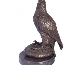 Greenvale Treetops Falcon Bronze Sculpture