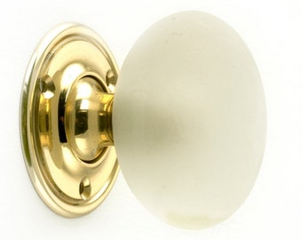 Clear Frosted Glass Knob
