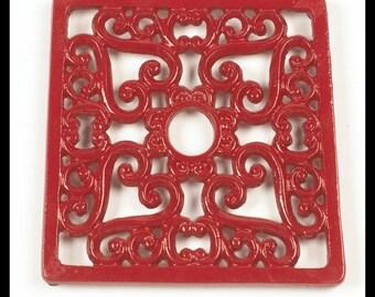 Trivet - Heavy duty V4 Square - Red